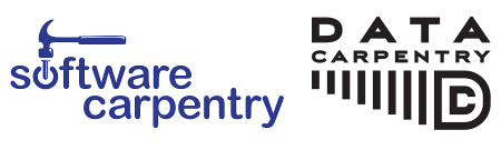 Software Carpentry and Data Carpentry logos